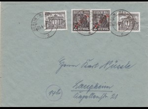 Berlin: MiNr. 21,42 auf Drucksache 1949 nach Laupheim