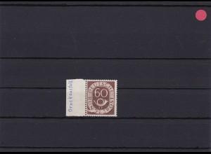 BRD: MiNr. 135 Posthorn, Druckausfall, postfrisch