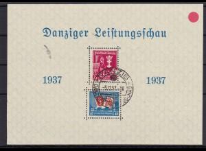 Danzig MiNr. Block 3I, SST 1937,einwandfrei