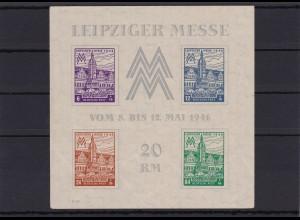 SBZ: West-Sachsen: MiNr. Block 5YZ, postfrisch