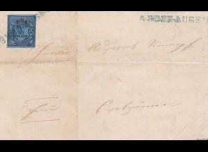 Oldenburg Brief MiNr. 2IIIm Type III, Abbehausen nach Ovelgönne, signiert