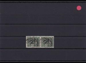 Infla: MiNr. 336 AWa, senkr. Paar, untere Marke 1 teil gedruckt, gestempelt