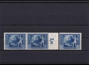 III. Reich: MiNr. 820II/III, Abarten II, III, postfrisch. III mit Vergleichpaar