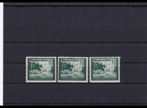 III. Reich: MiNr. 891 I, II, III, postfrisch