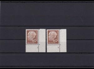 BRD: MiNr. 262FN 1,4 Heuss, postfrisch, x-Papier