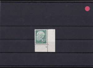 BRD: MiNr. 265FN 4 Heuss, postfrisch, v-Papier
