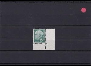 BRD: MiNr. 265wFN 3 Heuss, postfrisch, w-Papier