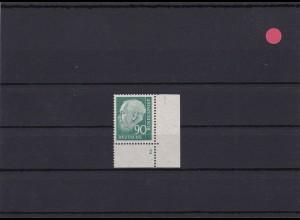 BRD: MiNr. 265vFN 2 Heuss, postfrisch, v-Papier