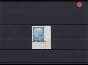 BRD: MiNr. 187FN, Heuss Formnummer 1, postfrisch