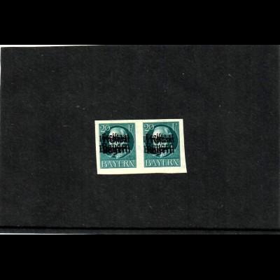 Bayern: MiNr. 157 B, DD, Doppeldruck, waagrechtes Paar, *, Falz