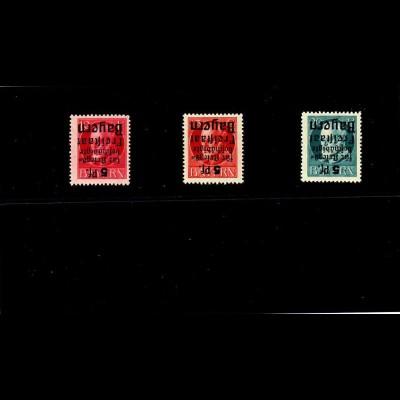 Bayern: MiNr. 171 - 173, K, Kopfsteher, postfrisch