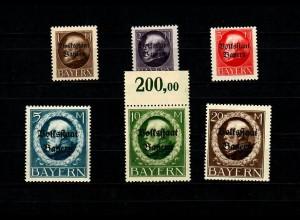 Bayern: MiNr. 128-133I, postfrisch, **, BPP Signatur