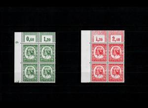 DR: MiNr. 554-555, postfrisch, **, Eckrand-Viererblock