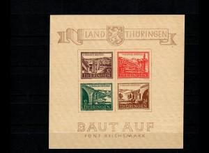 DBZ: Thüringen MiNr. Block 4 cy II, BPP Attest, postfrisch, **