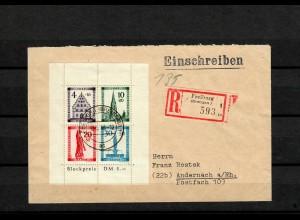 Franz. Zone Baden 1949: MiNr. Block Nr. 1 A, gestempelt, BPP Attest