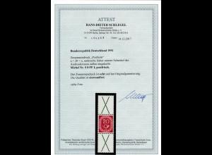 Bund Posthorn MiNr. S 8 PF I, postfrisch, **, BPP Attest