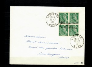 Dt. Besetzung Frankreich MiNr. 11I, Ghyvelde to Dunkerque, auf Brief