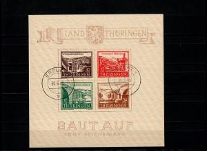 SBZ - Thüringen MiNr. Block 4 ay (I/III), gestempelt Erfurt, BPP Attest