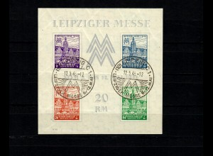 SBZ - Thüringen MiNr. Block 5 Ya Z (III), gestempelt Leipzig, BPP Attest