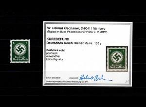 DR Dienst MiNr. 135 y, postfrisch **, BPP Befund