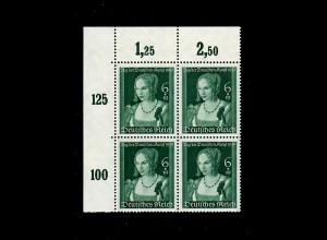 DR: MiNr. 700, Eckrand Viererblock, postfrisch, **