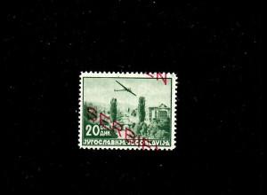 Serbien MiNr. 22 F, postfrisch, **, verschobener Aufdruck