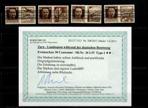 Zara: MiNr. 36 I-IV, Type I, **, postfrisch