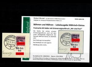 B&M: Mährisch Ostrau, 60 Heller - Wir sind frei - Moravska Ostrava