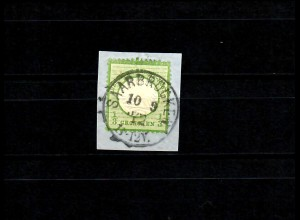 DR: MiNr. 2b, gestempelt auf Briefstück, BPP Signatur