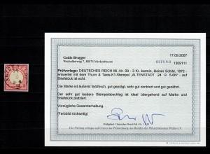 DR: MiNr. 09, gestempelt Altenstadt, BPP Befund