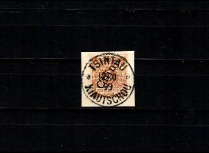 DP in China: MiNr. V1 II c, gestempelt auf Briefstück, BPP Signatur