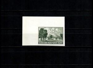 B&M: Thersienstadt Zulassungsmarke MiNr. 1 U, postfrisch, Eckrand