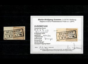 DR: MiNr. 6, gestempelt Neumarkt/Breslau, BPP Befund