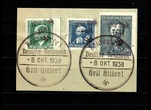 Sudetenland MiNr. 21, 34, 136, Sonderstempel Reichenberg