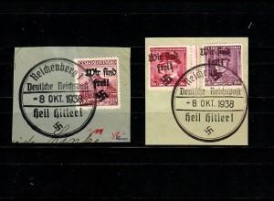 Sudetenland MiNr. 23, 24, 25 Sonderstempel Reichenberg