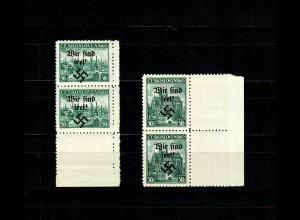 Sudetenland MiNr. 51-52, postfrisch, **, Rumburg