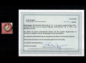 DR: MiNr. 19, gestempelt Stadtsulza, BPP Befund