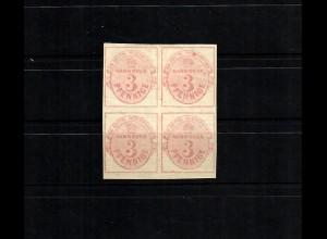 Hannover MiNr. 13, *, ungebraucht, Vierer- Block