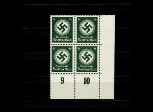 DR Dienst MiNr. D135y, Eckand Vierer-Block, postfrisch, **, BPP Signatur