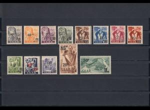 Saarland 1947 MiNr. 226/238I, postfrisch, **, BPP Attest
