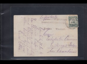 DSWA: Flugpostkarte ab KARIBIB 1914, Erste Flugpost Windhuk nach Reilingen