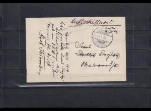 DSWA: Flugpostkarte 1914: 3. Etappe: Karibib - Okahandja, große Seltenheit