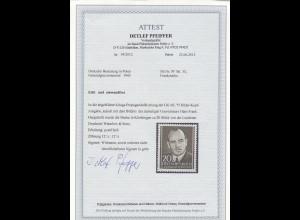 Kriegs- und Propagandafälschung MiNr. 33 postfrisch, **, Frank-Marke, BPP Attest