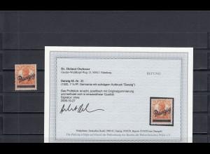 Danzig: MiNr. 35, postfrisch, **, BPP Befund