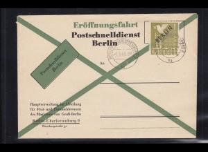 Berlin: MiNr. 17, FDC zum Postschnelldienst 1.3.1949, BPP Attest