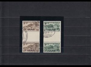 Saarland MiNr. 262 ZS und 263 ZS mit 262 II, gestempelt 1949, BPP Attest