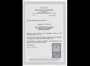 Danzig: MiNr. 169 F U Pa, gekebte Papierbahn, ohne Wert, ungez. BPP Attest, **