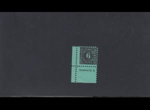 SBZ: MiNr. 8y, B-Bogen, Eckrand, postfrisch, **, BPP Attest