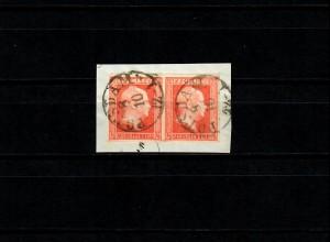 Preußen: MiNr. 1, waagrechtes Paar gestempelt Potsdam