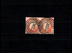 Preußen: MiNr. 1, waagrechtes Paar gestempelt Nr. 1685
